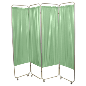 Standard Foldable Privacy Screen with Casters - Vinyl green