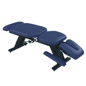 "ErgoBasic™ Treatment Table - Hi-Low 80"" L x 30"" W x 18""-24"" H 6-Section imperial blue"
