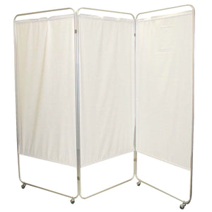 King Size 3-Panel Privacy Screen with Casters - Vinyl