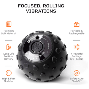 LifePro 4-Speed Vibrating Massage Ball - Revolutionary Lacrosse Ball Deep Tissue Trigger Point Therapy