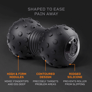 black LifePro 4-Speed Vibrating Massage Ball - Peanut Massage