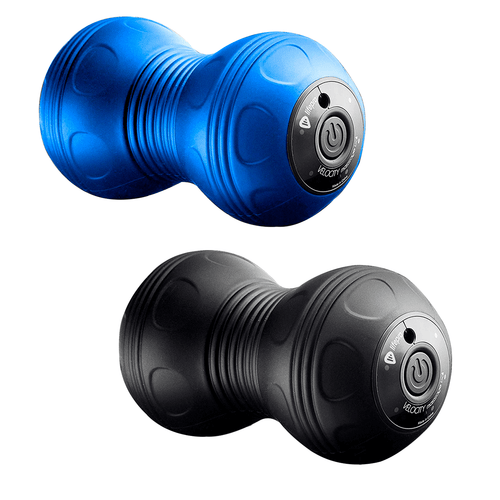 LifePro 4-Speed Vibrating Velocity Massage Ball - Peanut Massager combines lacrosse ball with vibrating foam roller color options: blue and black