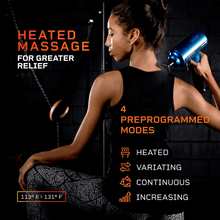 Load image into Gallery viewer, LifePro Fusion FX Heated Percussion Massage Gun 4 preprogrammed modes: heated, variating, continuous and increasing