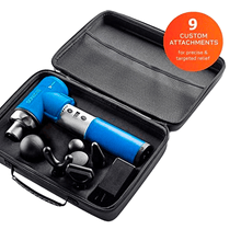 Load image into Gallery viewer, blue Lifepro Sonic LX Professional Percussion Massage Gun case