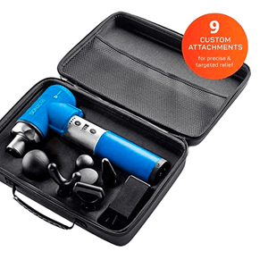 blue Lifepro Sonic LX Professional Percussion Massage Gun case