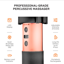 Load image into Gallery viewer, Lifepro Sonic LX Professional Percussion Massage Gun features