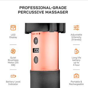 Lifepro Sonic LX Professional Percussion Massage Gun features