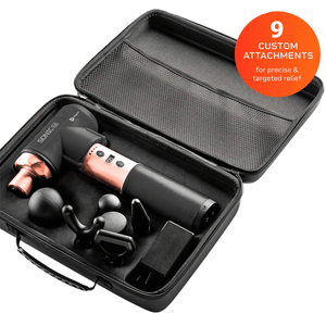 pink Lifepro Sonic LX Professional Percussion Massage Gun case