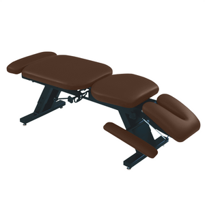 "ErgoBasic™ Treatment Table - Hi-Low 80"" L x 30"" W x 18""-24"" H 6-Section mocha"