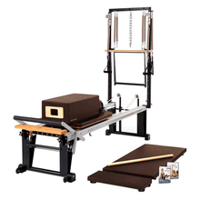Load image into Gallery viewer, Merrithew Rehab V2 Max Plus™ Reformer Bundle chestnut brown
