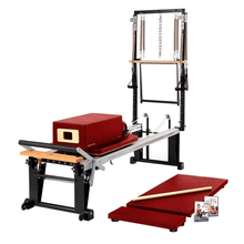 Load image into Gallery viewer, Merrithew Rehab V2 Max Plus™ Reformer Bundle dark cherry
