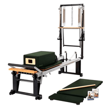 Load image into Gallery viewer, Merrithew Rehab V2 Max Plus™ Reformer Bundle yew green