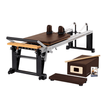 Load image into Gallery viewer, Merrithew Rehab V2 Max™ Reformer Bundle chestnut brown
