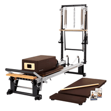 Load image into Gallery viewer, Merrithew V2 Max Plus™ Reformer Bundle chestnut brown