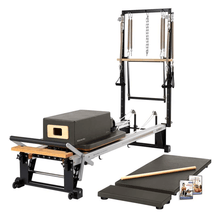 Load image into Gallery viewer, Merrithew V2 Max Plus™ Reformer Bundle gunmetal gray