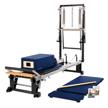 Load image into Gallery viewer, Merrithew V2 Max Plus™ Reformer Bundle royal blue