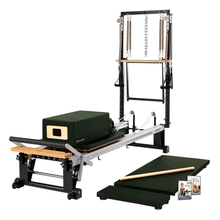 Load image into Gallery viewer, Merrithew V2 Max Plus™ Reformer Bundle yew green
