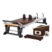 Load image into Gallery viewer, Merrithew V2 Max™ Reformer Bundle chestnut brown