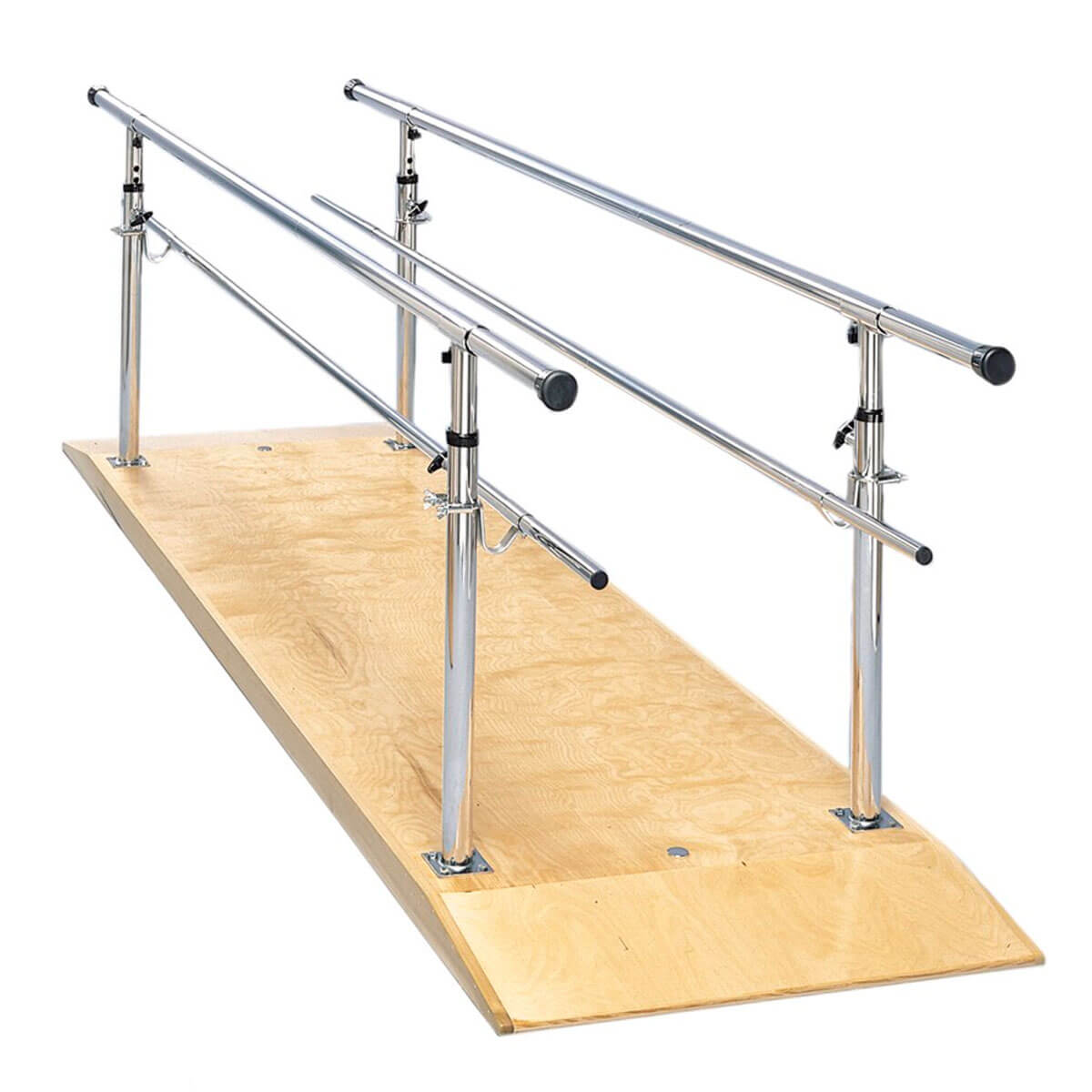 Platform Mounted Parallel Bars with Wood Platform and Adjustable Height (26
