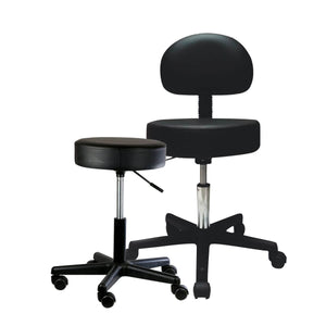 "Pneumatic Mobile Stool Chair with Upholstery 18""- 22"" H"