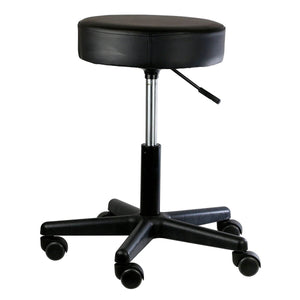 "Pneumatic Mobile Stool Chair with Upholstery 18""- 22"" H no back black"