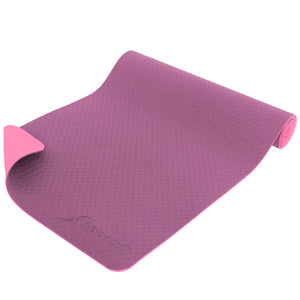 "ProSource Natura TPE Reversible Yoga Mat 1/4"" (6mm Thick) purple pink"