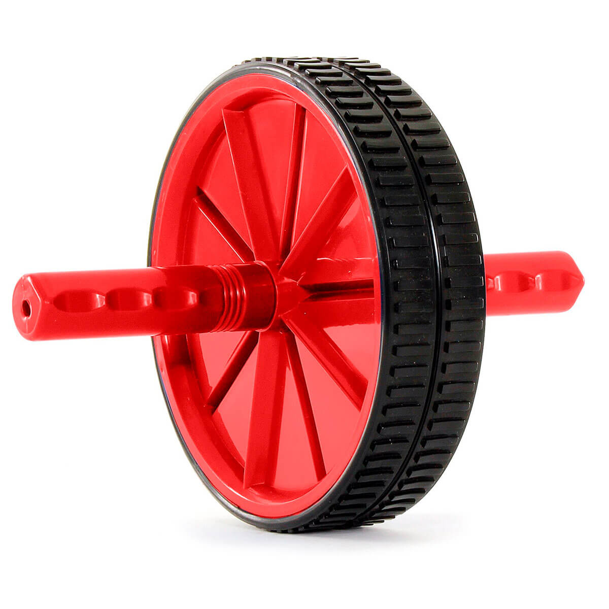 Prosource Ab Wheel - Abdominal Exercise Equipment with Handles red