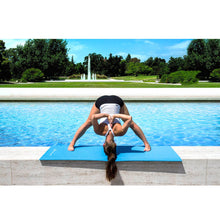 "Load image into Gallery viewer, Prosource Classic Yoga Exercise Mat 1/8"" (3mm Thick) aqua"