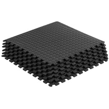 Load image into Gallery viewer, Prosource Exercise Puzzle EVA Foam Mat - 1/2 inch black