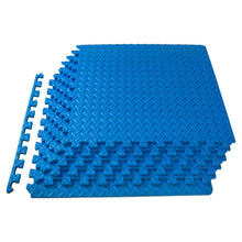 Load image into Gallery viewer, Prosource Exercise Puzzle EVA Foam Mat - 1/2 inch blue