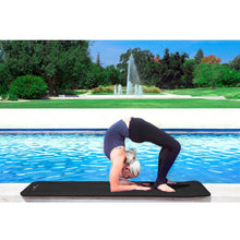 Load image into Gallery viewer, Prosource Extra Thick Yoga and Pilates Mat 1/2inch - High Density Mat and Carrying Strap black