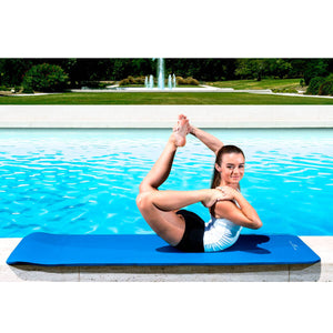 Prosource Extra Thick Yoga and Pilates Mat 1/2inch - High Density Mat and Carrying Strap blue