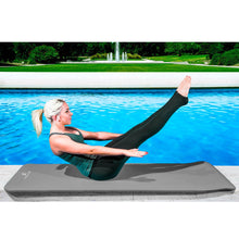 Load image into Gallery viewer, Prosource Extra Thick Yoga and Pilates Mat 1/2inch - High Density Mat and Carrying Strap grey