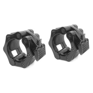 Prosource Olympic 2-inch Barbell Clamp Collars - Pair of 2 black