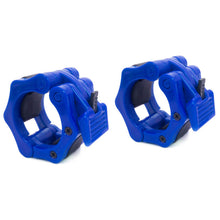 Load image into Gallery viewer, Prosource Olympic 2-inch Barbell Clamp Collars - Pair of 2 blue