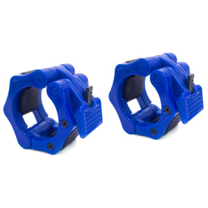 Prosource Olympic 2-inch Barbell Clamp Collars - Pair of 2 blue