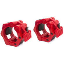 Load image into Gallery viewer, Prosource Olympic 2-inch Barbell Clamp Collars - Pair of 2 red