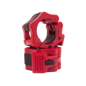 Prosource Olympic 2-inch Barbell Clamp Collars - Pair of 2 red