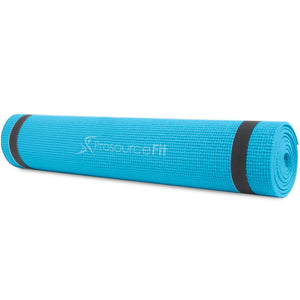 "Prosource Original Yoga Exercise Mat 1/4"" (6mm Thick) aqua"
