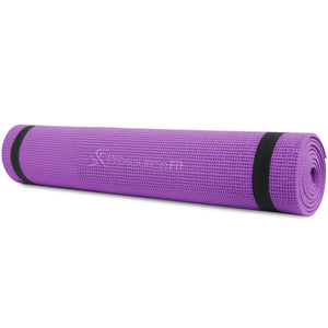 "Prosource Original Yoga Exercise Mat 1/4"" (6mm Thick) purple"