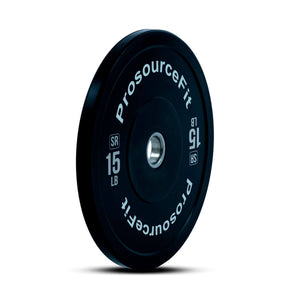 Prosource SR Bumper Plates (Set of 2) for Lifting and Crossfit - 15 lbs