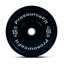 Load image into Gallery viewer, Prosource SR Bumper Plates (Set of 2) for Lifting and Crossfit - 15 lbs