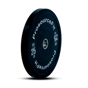 Prosource SR Bumper Plates (Set of 2) for Lifting and Crossfit - 25 lbs
