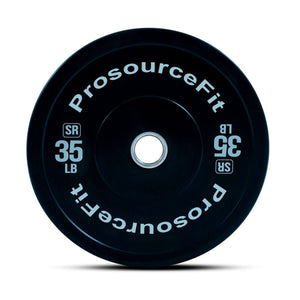 Prosource SR Bumper Plates (Set of 2) for Lifting and Crossfit - 35 lbs