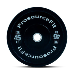 Prosource SR Bumper Plates (Set of 2) for Lifting and Crossfit - 45 lbs