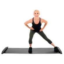 Load image into Gallery viewer, Prosource Slide Board Mat for Exercise with Booties, End Stops and Carrying Bag