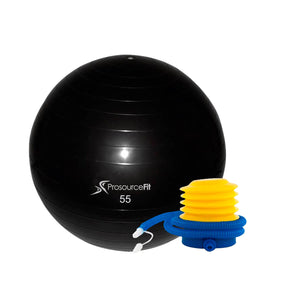 Prosource Stability Exercise Ball with Foot Air Pump 55cm