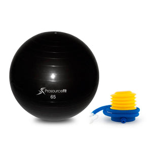 Prosource Stability Exercise Ball with Foot Air Pump 65cm