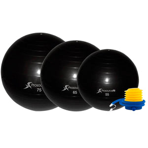 Prosource Stability Exercise Ball with Foot Air Pump