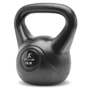 Prosource Vinyl Kettlebells with Extra Large Handles 15lb